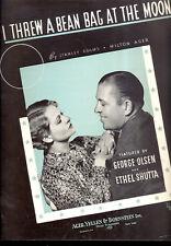 """ETHEL SHUTTA GEORGE OLSEN Sheet Music """"I Threw A Bean Bag At The Moon"""" 1935"""