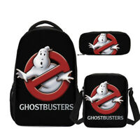 The Real Ghostbusters Backpack Student 3PCS School Bag Set Custom Gift Wholesale