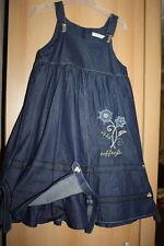 Toff Togs das schönste Jeanskleid mit Trägern + STeinen Stickerrein Fleece gefüt