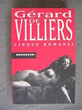 GERARD DE VILLIERS - SAS: 5 ROMANZI - MONDADORI - QUASI OTTIMO