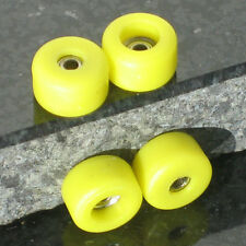 Yellow Wooden Fingerboard Bearing Wheels