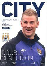 Hombre Ciudad V Fulham 2012/13 programa Mint Manchester