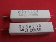 Rare! hochlast résistance 1,8 ohms 20w ciment 60x15x13mm 2x 23624
