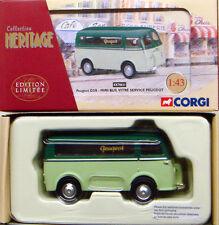 CORGI EX70621 FRENCH HERITAGE Peugeot D3A Mini Bus Vitre Service Peugeot