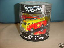 HOT WHEELS LIMITED 1/15000 WHITE TANK TRUCK SHELL OIL FREE USA SHIPPING