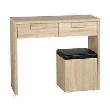 Cambourne 2 Drawer Dressing Table Set Light Sonoma Oak/Black Pu