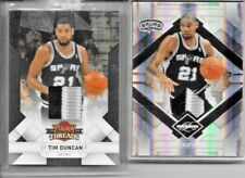TIM DUNCAN PRIME SWATCHES LOT OF 2 (Panini Limited and Threads)