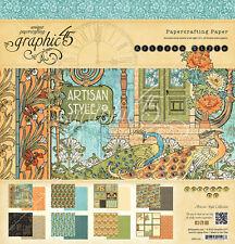 Graphic45 ARTISAN STYLE 12x12 PAPER PAD scrapbooking Vintage VINTAGE ART DECO