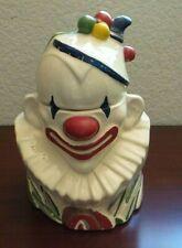 VINTAGE MCCOY CLOWN COOKIE JAR with LID CIRCUS McCoy Pottery