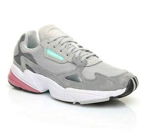 Adidas Originals Falcon Grey Trace Maroon Womens Casual Sneakers D96698