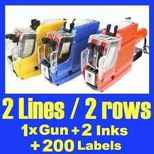 Pricing Gun Labeller 2 Rows 2 Lines 10 Digits Spare Ink