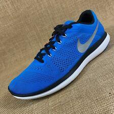 Nike Flex 2016 Run running shoes blue black white 830369 men's size 10