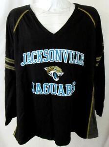 Jacksonville Jaguars Women Plus Size 1X or 2X Long Sleeve Team T-shirt AJJS 159