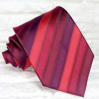Cravatta uomo regimental rosso TOP Qualità Made in Italy 100% seta TRE marca