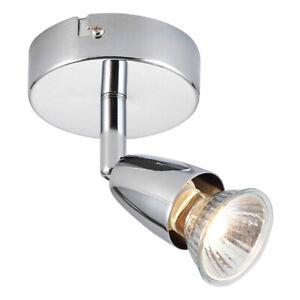 Saxby Amalfi Single GU10 Spotlight Wall Swivel Ceiling Mounted Dimmable Light