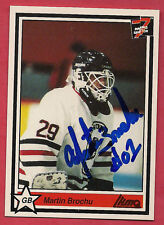 RARE LES BISONS DE GRANBY MARTIN BROCHU GOALIE AUTHOGRAPH CARD