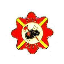 Fire Dept Lapel Pin Red Ladder Hat Ax Cap Tac Promotional Fireman EMS New