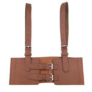 Women Faux Leather Underbust Waist Belt Corset Bustier Adjustable Strap Corsets