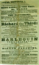 1833 Broadside Playbill advertising Full-Length Automaton Figure Of Paganini
