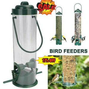 Hanging Wild Bird Feeder Seed Durable Container Hanger Feed Garden Outdoor Decor