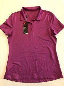 Under Armour New Rally Short Sleeve Golf Polo Shirt Women's Medium Purple