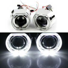 "2X 2.5"" LED Angel Eye HID Bi-Xenon Projector Glass Lens Headlight Red Devil Eye"