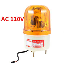 AC110V 10W Yellow Rotating Light Mechanical Industrial Signal Warn Lamp