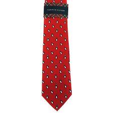 "Tommy Hilfiger Men's 100% Silk Neck Tie Penguin Print Red 3"" x 57"""