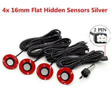 Parking 4 Flat Sensors Car Reverse Backup Buzzer Alarm Radar System Kit Silver