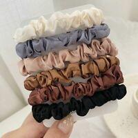 6PCS Womens Hair Scrunchies Silk Satin Elastics Hair Ties Ponytail Holder Ropes
