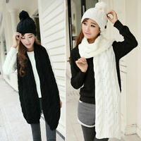 New Fashion Unisex Winter Knit Neck Wool Long Scarf Wrap Shawl Stole Scarves Hot