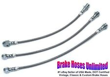 STAINLESS BRAKE HOSE SET Chevrolet Bel Air Station Wagon, 1971 1972 1973