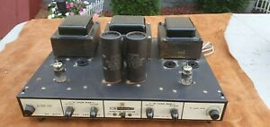 Vintage Heathkit AA-121 / Daystrom 80 watt Stereo Tube Amplfier -Amp