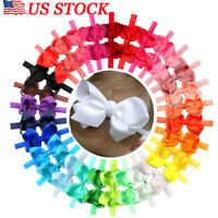 """20Pcs Lot Baby Girls 3"""" Hair Bows Headbands for Infant Toddlers Newborn Big Bow"""