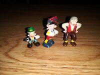 Vintage Marx Disneykins Lot Pinnochio Tiny figurines lot of 3