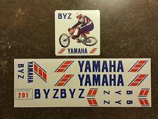 Bmx old school Yamaha 1982 BYZ 201 sticker set Autocollant vintage shimano DX GT