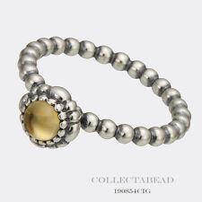 Authentic Pandora Citrine November Birthday Blooms Ring Size 58 (8.5) 190854CIG