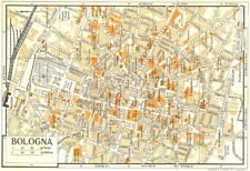 BOLOGNA town/city plan. Italy 1960 old vintage map chart