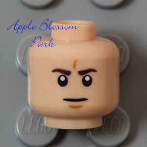 NEW Lego Light FLESH MINIFIG HEAD -Male Boy/Girl Man Scowl Grin Smirk Smile