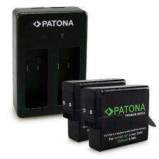 PATONA Dual Caricabatteria + 2x AHDBT-501 AABAT-001 Premium Batteria 1250mAh