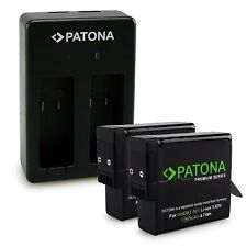 PATONA Dual Cargador + 2 x AHDBT-501 AABAT-001 Premium Batería 1250mAh