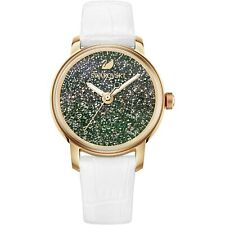 Swarovski (5344635) Crystalline Rose Gold Tone White Leather Watch