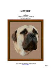 MASTIFF - cross stitch chart