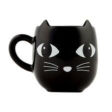 SASS & BELLE CERAMIC BLACK CAT WITH EARS MUG CUP ANIMAL NOVELTY TEA COFFEE