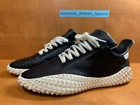 Adidas Kamanda Horween Leather Shoes Men's Size 10 Core Black/Off White EE5650