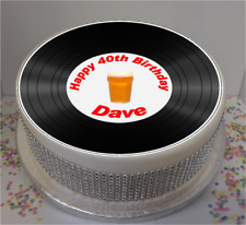 """Novelty Personalised Vinyl Look Male 7.5"""" Edible Icing Cake Topper birthday"""