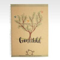 RHICREATIVE Grandchild Record Book Journal Photo Album Scrapbook Grandparents