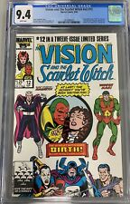 VISION AND THE SCARLET WITCH V.2 #12 CGC 9.4 TWINS BILLY AND TOMMY SPEED WICCAN