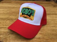 A Retro Bobos Beard Company Red Trucker Baseball Cap Hat Snapback