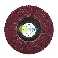 "1 x Flap Sanding Discs 115mm 120 Grit Aluminium Oxide 4.5"" Angle Grinder"